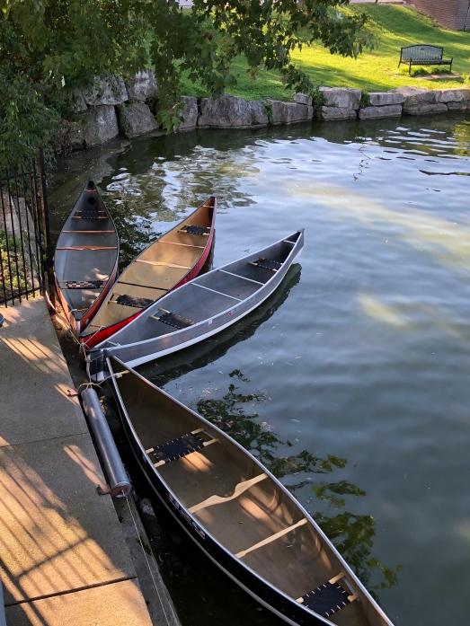 canoe display