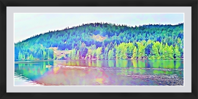 Onthelake (colour)framed