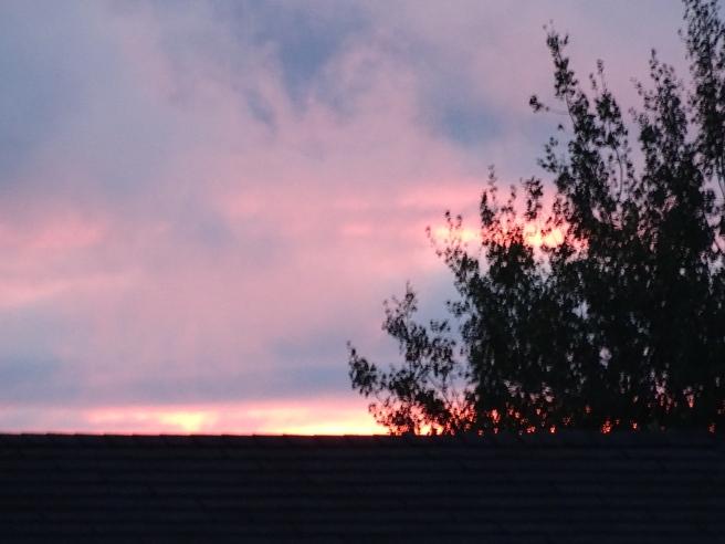 fiery sunset